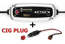CTEK Set Charger MXS 5.0 + Cigarette Lighter Charging Cable 56263