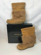 Colin Stuart Brown Boots Moccasins Leather Shoes Size 5 Free US Shipping