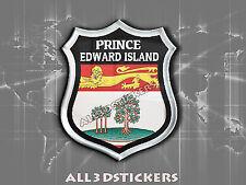 3D Emblem Sticker Resin Domed Flag Prince Edward Island - Adhesive Decal Vinyl
