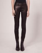 NWT Rag & Bone $979 Skinny Leather Pant/Jean in Washed Black sz 25/XS