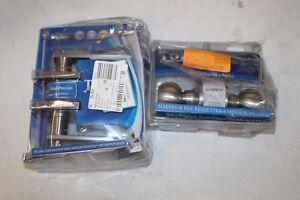 Bundle of 2 Toledo Fine Locks Avila / Euro Satin Stainless-Steel Privacy Lockset