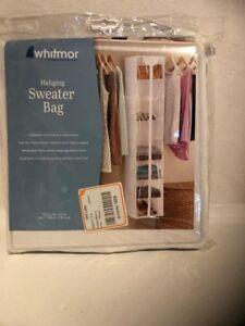 Whitmor hanging garment bag (8 shelves) NEW