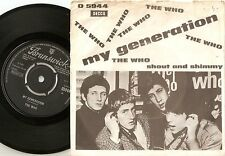 THE WHO MY GENERATION FIRST WHITE VARIATION DANISH PS+45 1965 HIGH NUMBERS MOD