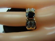 585er Gold mit Saphir und Brillianten Ringgroße 53,5 Gewicht 4,18 Gramm