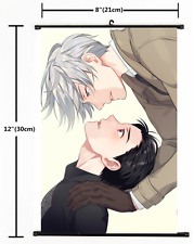Japanese Anime Yuri On Ice Victor Yuri Poster Wall Scroll cosplay 2377