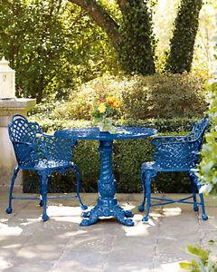 Metal Bistro Set Outdoor Patio Garden Dining Table Chairs Victorian Antique