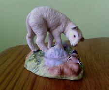 Franklin mint porcelain figurine of lamb by Peter Barrett 1984