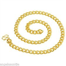 18K Yellow Gold Filled Curb Chain Necklace (N-164)