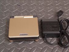 Nintendo Game Boy Advance SP Gold and Black Handheld Syst AGS101 BRIGHTER MODEL