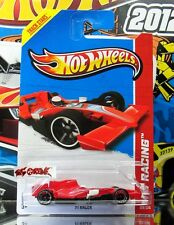Hot Wheels 2013 #129 F1 Racer RED,CHROME RIMS,BLACK OH5SP,2ND COLOR,NEW!