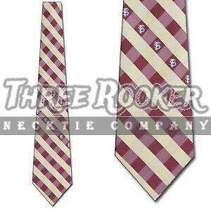 FSU Noles Tie Noles Neckties Mens Licensed Football Neck Ties NWT