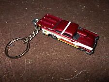 1955 FORD JUKEBOX RACE CAR DIECAST MODEL TOY CAR KEYCHAIN KEYRING NEW MAROON