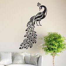 Peacock Wall Sticker Birds Decal Art Livingroom Vinyl Mural Graphics Hall Decor