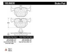 Disc Brake Pad Set-OE Formula Brake Pads with Hardware Rear Centric 100.06830