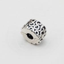 """Genuine Pandora Silver Charm Clip """"Serpentine"""" - 790338 - retired"""