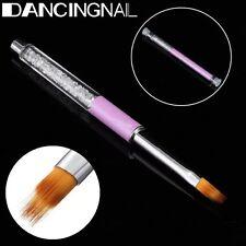Pro UV Gel Nail Brush Rhinestone Handle Nylon Hair Ombre Brush Nail Art Tools