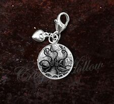 925 Sterling Silver Charm Attack of Giant Squid Octopus Pirate Ship