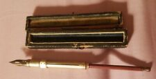 Antique Gold Filled & Wood Handle Propel Fountain Dip Pen