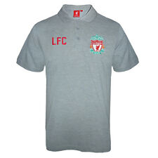 Liverpool FC Official Football Gift Mens Crest Polo Shirt Grey With Tags Size M
