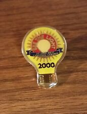 Wal-Mart See the Light 2000 At Our New Lighting Center Employee Lapel Hat Pin
