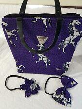 Handmade African Ankara Bag with handmade matching Hair Bands Ribbons
