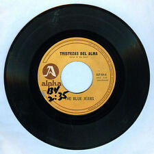 Philippines THE BLUE JEANS Tristezas Del Alma OPM 45 rpm Record