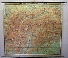schöne Schulwandkarte Tirol und Vorarlberg Innsbruck Garda Alpen 196x181 1958