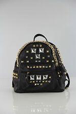Designer Beutel,Tasche im aktuellen Design, Rucksack,  Backpack, Schwarz Metall