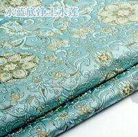 Brocade Fabric Imitated Silk Jacquard Tapestry Damask Floral Furnishing Home DIY