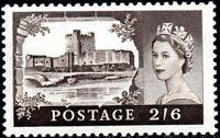 1959 Sg 595 2s6d black-brown De La Rue High Value printing Mounted Mint