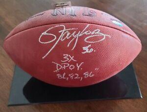 Lawrence Taylor Signed Official NFL Footbal Tristar Giants HOF Game Ball 56