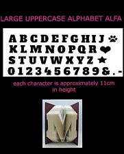 LARGE Uppercase Alphabet Book Folding PATTERN~create your own folded book words
