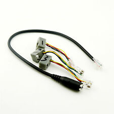 1x 3.5mm Smartphone Headset to 3 Rj9/Rj10 Cisco Office Phone Adapter Cable Black