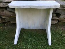 Vintage White Painted Cloud Wood Table Top Riser Shelf Country Primitive Display