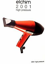 ELCHIM 2001 HAIR DRYER - RED/BK 2000W VALID LIFETIME WARRANTY ITALY 836793002149