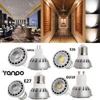 Dimmable COB LED Spot Light Bulbs 15W GU10 MR16 E26 E27 Cree Lamp Ultra Bright
