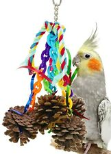 1020 Pine Cone Mania Bird Toy parrot cage toys cages natural cockatiel conure