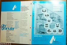 1975 National Conveyors Systems Move Metals Plastics Powders Industrial Catalog