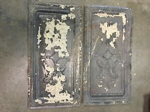 "Antique Tin Ceiling Tiles 2 both tiles are 12""x24"""