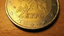 Rare 2 EURO,2002 'S' In Star' Greek Coin Europa
