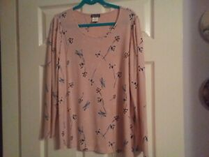 kim&co pretty pink top size Large new