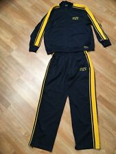 VTG 90s RALPH LAUREN POLO JEANS CO STRIPED SPELLOUT TRACKSUIT Navy Gold USA M L