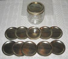 Longaberger Rare Blue Ribbon Collection ½ pint jar, New 10 extra domed lids