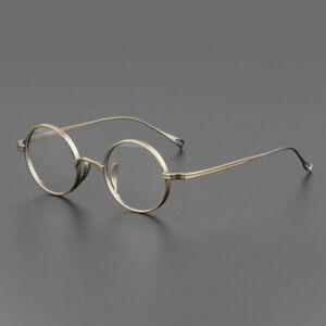 Vintage Titanium Small round retro Eyeglass Frames Optical RX Glasses 45-22-145