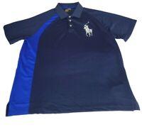 NWT Polo Ralph Lauren Performance S/S Shirt Navy Blue White Big Pony Men's Large