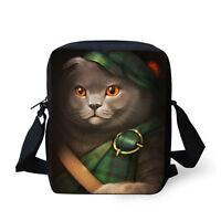 Womens Cute Cat Shoulder Bag Cross Body Purse Messenger Handbag Womens Girls Hot