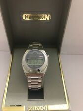 Citizen Crystron 50-3118  Quartz  Digital LCD   Vintage Watch