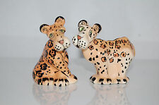 LYNDA CORNEILLE S.W.A.K Zoe the Leopard Salt And Pepper Shakers EUC Signed