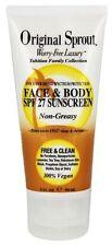 Original Sprout Face and Body SPF27 Sunscreen Non-Greasy Protection 3 oz