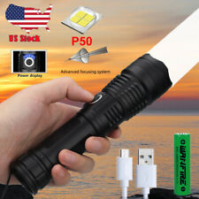 Ultra Bright 12000LM XHP70 XHP50 Zoom Flashlight LED Rechargeable Torch Headlamp
